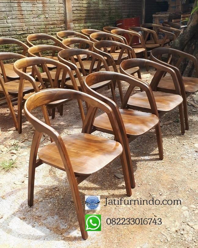 Kursi Cafe Jati Minimalis Modern Jati Furnindo